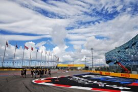 The Racing Point Force India F1 Team walk the circuit. Russian Grand Prix, Thursday 27th September 2018. Sochi Autodrom, Sochi, Russia.
