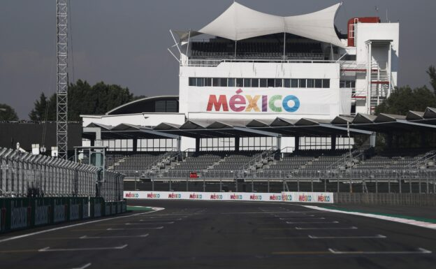 Start grid of the Mexican circuit Hermanos Rodriquez in Mexico City