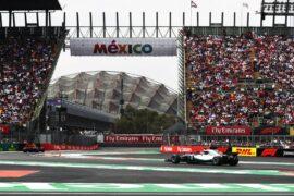 Lewis Hamilton Mercedes on track Mexico GP F1/2018