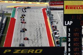 Lewis Hamilton & drivers on track US GP F1/2018