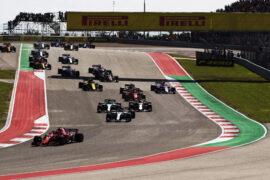 Drivers on track US GP F1/2018