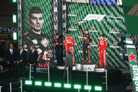 Max Verstappen Sebastian Vettel & Kimi Raikkonen winners Mexico GP F1/2018