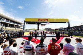 Drivers at the start US GP F1/2018