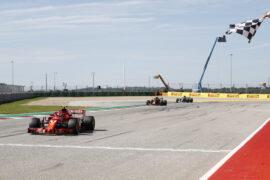 Kimi Raikkonen Ferrari on track US GP F1/2018