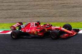 Sebastian Vettel Ferrari Japanese GP F1/2018