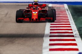 Kimi Raikkonen Ferrari Russian GP F1/2018