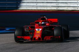 Sebastian Vettel Ferrari Russian GP F1/2018