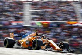 Circuit of the Americas, Austin, Texas, USA Sunday 21 October 2018. Stoffel Vandoorne, McLaren MCL33.