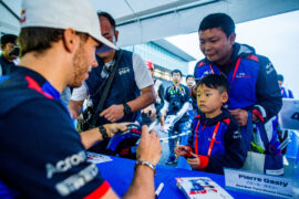 Pierre Gasly of Scuderia Toro Rosso and France during previews ahead of the Formula One Grand Prix of Japan at Suzuka Circuit on October 4, 2018 in Suzuka.