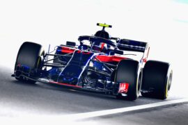 Pierre Gasly of France and Scuderia Toro Rosso driving the (10) Scuderia Toro Rosso STR13 Honda on track during practice for the Formula One Grand Prix of Japan at Suzuka Circuit on October 5, 2018 in Suzuka.