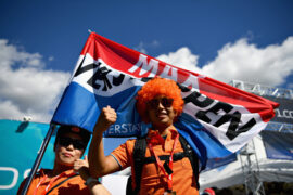 Max Verstappen fans enjoy the atmosphere around the circuit before the Formula One Grand Prix of Japan 2018