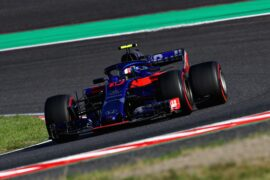 Pierre Gasly of France and Scuderia Toro Rosso driving the (10) Scuderia Toro Rosso STR13 Honda on track during the Formula One Grand Prix of Japan at Suzuka Circuit on October 7, 2018 in Suzuka.
