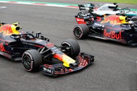 Daniel Ricciardo & Max Verstappen Red Bull Racing mexico GP F1/2018.