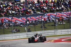Kevin Magnussen Haas on track US GP F1/2018