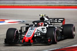 Kevin Magnussen on track Haas Russian GP F1/2018