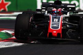 Romain Grosjean on track Mexico GP F1/2018