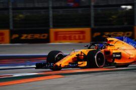 Fernando Alonso McLaren Russian GP F1/2018