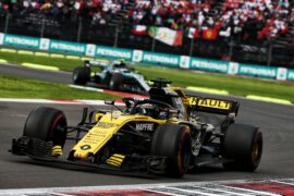 Nico Hulkenberg (GER) Renault Sport F1 Team RS18. Mexican Grand Prix, Sunday 28th October 2018. Mexico City, Mexico.