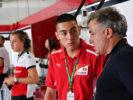 Giuliano Alesi, Trident GP3 driver and Jean Alesi, in the Alfa Romeo Sauber F1 Team garage at Formula One World Championship, Rd17, Japanese Grand Prix, Qualifying, Suzuka, Japan, Saturday 6 October 2018.