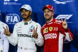 Lewis Hamilton & Sebastian Vettel exchange F1 Helmets