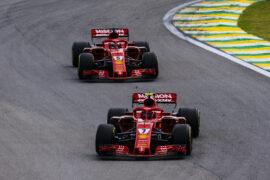 Kimi Raikkonen & Sebastian Vettel Ferrari Brazil GP F1/2018