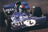 Tyrrell 002 driven by François Cevert on Silverstone in Britain (1972)