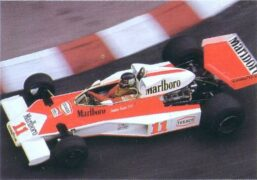 McLaren M23C driven by James Hunt in Monaco 1976