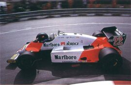 Tyrrell MP4-1 Andrea de Cesaris at Monaco (1983)