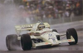 Thierry Boutsen driving the Arrows A6 Cosworth in France (1984)