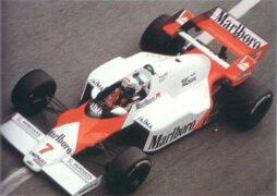 McLaren MP4-2 Porsche driven by Alain Prost in Monaco (1984)
