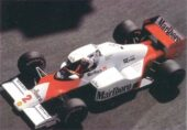 McLaren MP4-2B Porsche driven by Alain Prost in Monaco (1985)