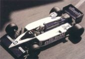 Brabham BT55 driven by Elio de Angelis at Monaco (1986)