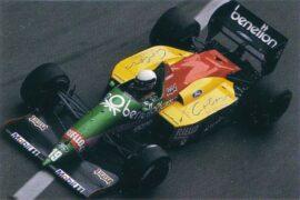 Benetton B187 Ford driven by Teo Fabi in Monaco (1987)
