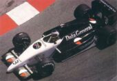 Tyrrell DG016 driven by Jonathan Palmer at Monaco (1987)
