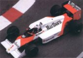 McLaren MP4-3 Porsche driven by Alain Prost in Monaco (1987)