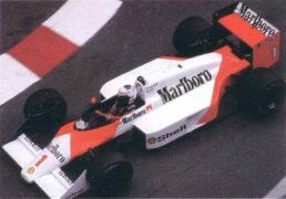 McLaren MP4-3 Porsche driven by Alain Prost in Monaco (1987)