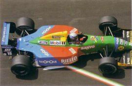 Benetton B190 Ford driven by Alessandro Nannini in Monaco (1990)