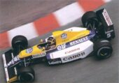 Thierry Boutsen driving the Williams FW13B Renault in Monaco (1990)