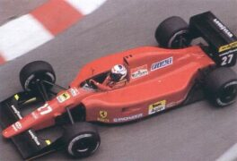 Alain Prost driving the Ferrari 642/2 V12 on Monaco (1991)
