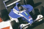 Thierry Boutsen driving the Ligier JS37 Renault in France (1992)