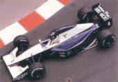 Damon Hill driving the Brabham BT60B Judd at Monaco (1992)