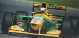 Benetton B193 Ford driven by Michael Schumacher in Canada (1993)