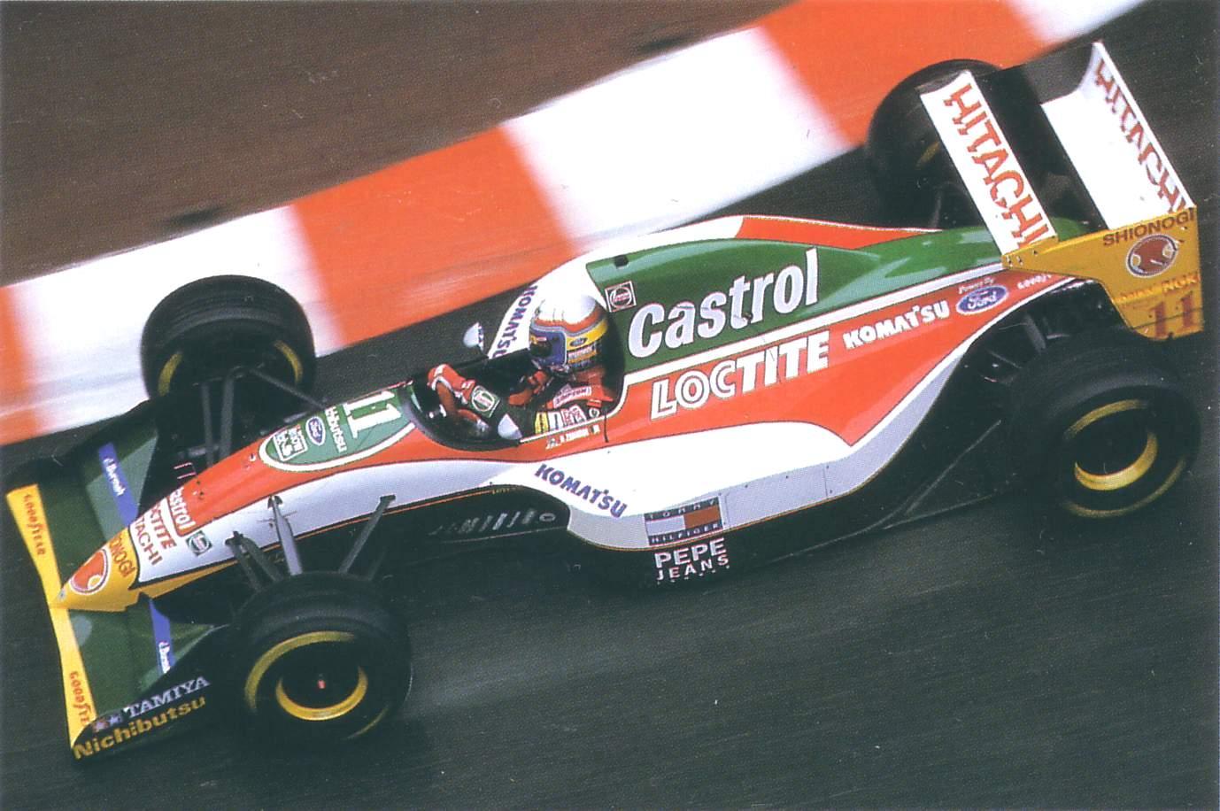 Lotus 107 driven by Alex Zanardi in Monaco (1993)