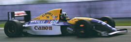 Damon Hill driving the Williams FW15C Renault in Spain (1993)