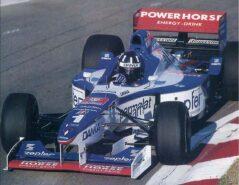Damon Hill driving the Arrows A18 Yamaha at the Hungaroring (1997)