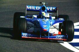Benetton B198 Renault driven by Giancarlo Fisichella in Spain (1998)