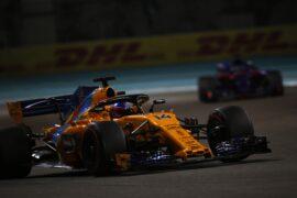 Yas Marina Circuit, Abu Dhabi, United Arab Emirates. Sunday 25 November 2018 Fernando Alonso, McLaren MCL33.
