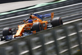 Interlagos, Sao Paulo, Brazil 2018. Fernando Alonso, McLaren MCL33 Renault.