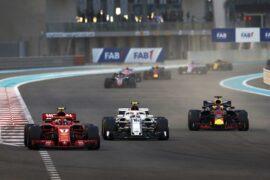 2018 Abu Dhabi GP Kimi Raikkonen , Charles Leclerc & Daniel Ricciardo