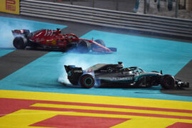 2018 Abu Dhabi GP Lewis Hamilton & Sebastian Vettel